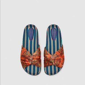Zara Printed Fabric Slides